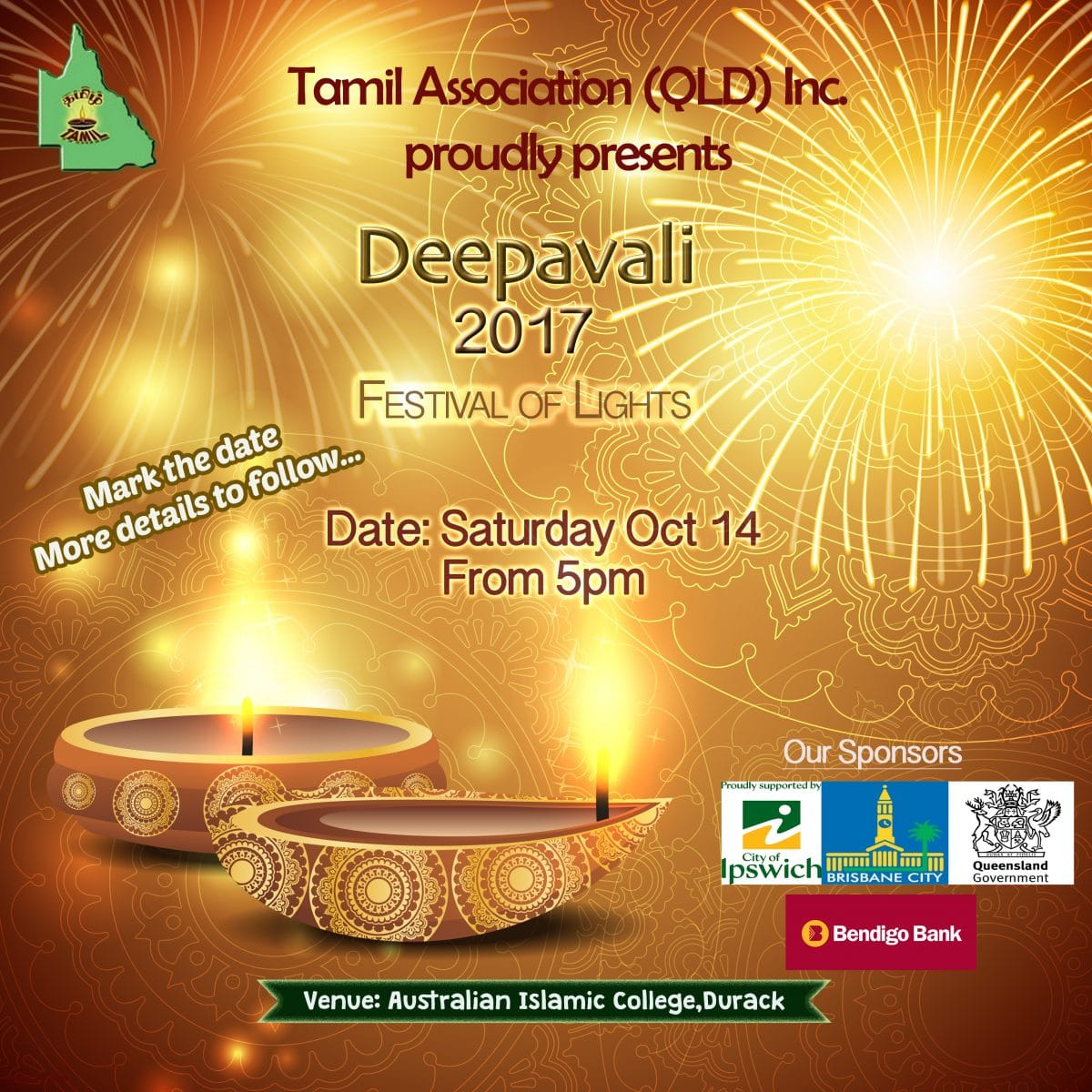 Tamil Association of Qld Inc proudly presents Deepavali 2017 ... for Deepavali 2017 Celebration  143gtk